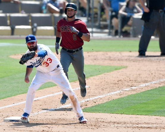 Scott Van Slyke during game against the Arizona Diamondbacks Sunday, July 31,12016 at Dodger Stadium in Los Angeles,California. Photo by Jon SooHoo/©Los Angeles Dodgers,LLC 2016