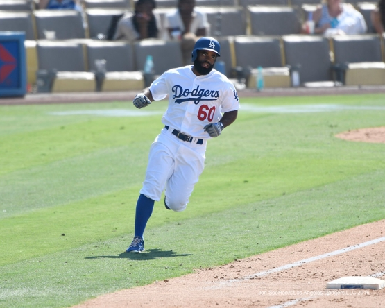 Andrew Toles during game against the Arizona Diamondbacks Sunday, July 31,12016 at Dodger Stadium in Los Angeles,California. Photo by Jon SooHoo/©Los Angeles Dodgers,LLC 2016