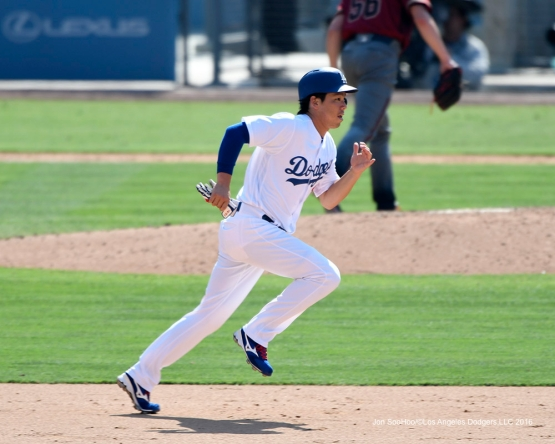 Kenta Maeda takes second during game against the Arizona Diamondbacks Sunday, July 31,12016 at Dodger Stadium in Los Angeles,California. Photo by Jon SooHoo/©Los Angeles Dodgers,LLC 2016