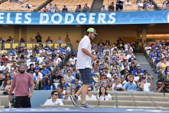 Clayton Kershaw during Faith and Family Day after game against the Arizona Diamondbacks Sunday, July 31,12016 at Dodger Stadium in Los Angeles,California. Photo by Jon SooHoo/©Los Angeles Dodgers,LLC 2016