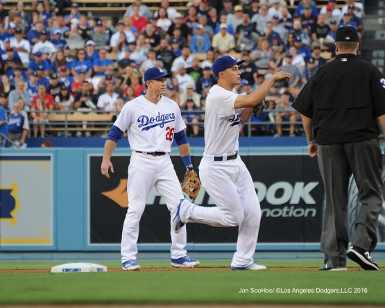 Los Angeles Dodgers during game against the Boston Red Sox Friday, August 5, 2016 at Dodger Stadium in Los Angeles,California. Photo by Jon SooHoo/©Los Angeles Dodgers,LLC 2016