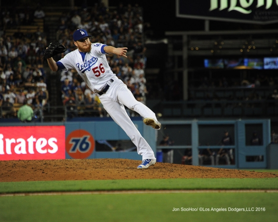 J.P.Howell during game against the Boston Red Sox Friday, August 5, 2016 at Dodger Stadium in Los Angeles,California. Photo by Jon SooHoo/©Los Angeles Dodgers,LLC 2016