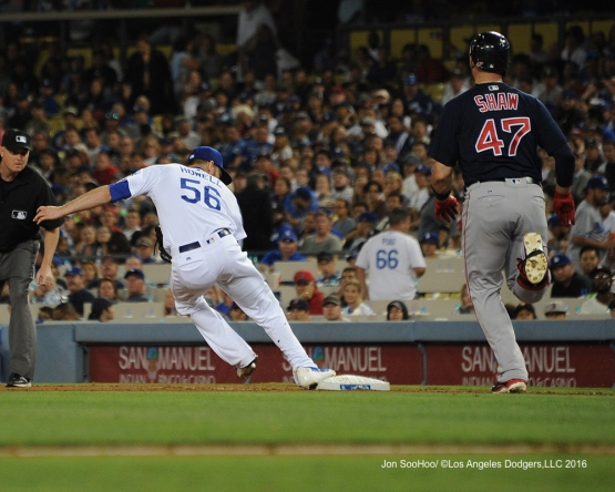 J.P. Howell during game against the Boston Red Sox Friday, August 5, 2016 at Dodger Stadium in Los Angeles,California. Photo by Jon SooHoo/©Los Angeles Dodgers,LLC 2016