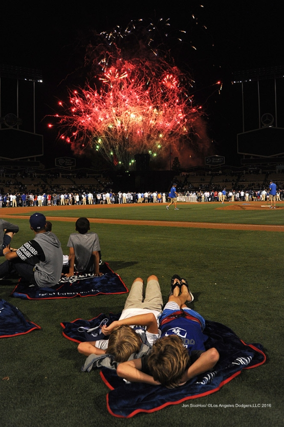 Friday Night Fireworks after game against the Boston Red Sox Friday, August 5, 2016 at Dodger Stadium in Los Angeles,California. Photo by Jon SooHoo/©Los Angeles Dodgers,LLC 2016