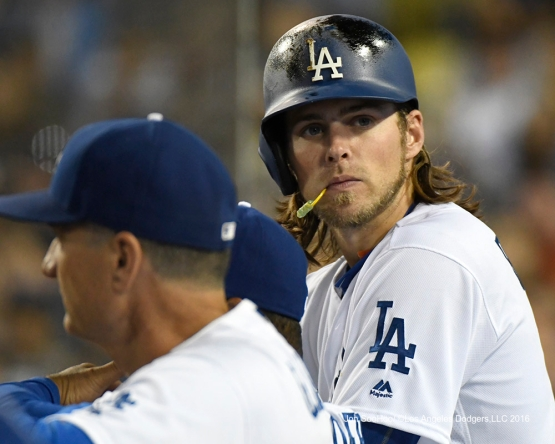 Los Angeles Dodgers Josh Reddick during game against the Boston Red Sox Friday, August 5, 2016 at Dodger Stadium in Los Angeles,California. Photo by Jon SooHoo/©Los Angeles Dodgers,LLC 2016