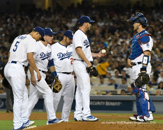 Scott Kazmir during game against the Boston Red Sox Friday, August 5, 2016 at Dodger Stadium in Los Angeles,California. Photo by Jon SooHoo/©Los Angeles Dodgers,LLC 2016