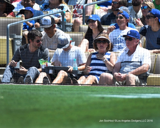 Great Los Angeles Dodgers fans during game against the Boston Red Sox Saturday, August 6, 2016 at Dodger Stadium in Los Angeles,California. Photo by Jon SooHoo/©Los Angeles Dodgers,LLC 2016