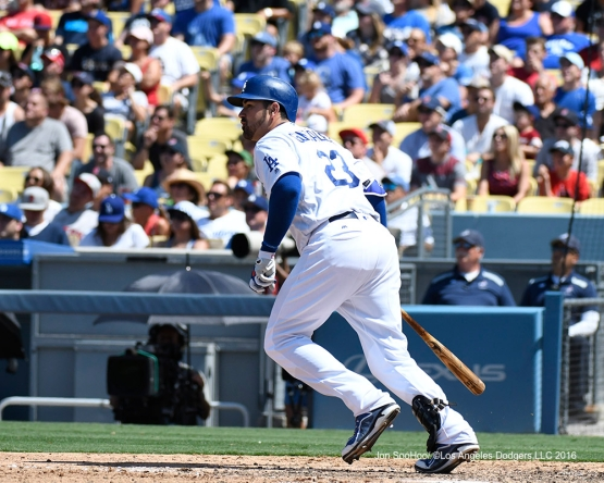 Adrian Gonzalez during game against the Boston Red Sox Saturday, August 6, 2016 at Dodger Stadium in Los Angeles,California. Photo by Jon SooHoo/©Los Angeles Dodgers,LLC 2016