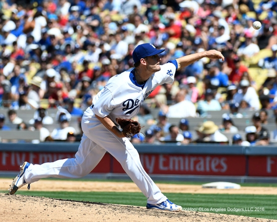 Grant Dayton during game against the Boston Red Sox Saturday, August 6, 2016 at Dodger Stadium in Los Angeles,California. Photo by Jon SooHoo/©Los Angeles Dodgers,LLC 2016