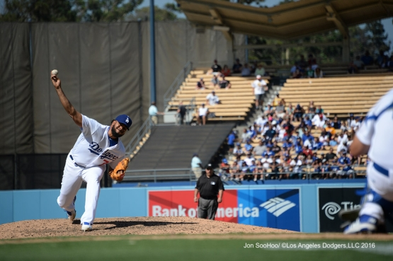 Kenley Jansen during game against the Boston Red Sox Saturday, August 6, 2016 at Dodger Stadium in Los Angeles,California. Photo by Jon SooHoo/©Los Angeles Dodgers,LLC 2016
