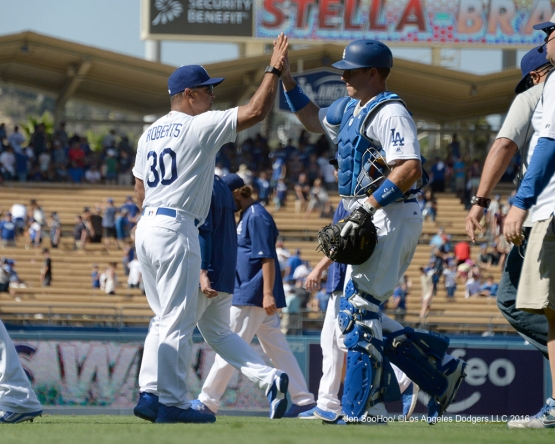 Dodger win against the Boston Red Sox Saturday, August 6, 2016 at Dodger Stadium in Los Angeles,California. Photo by Jon SooHoo/©Los Angeles Dodgers,LLC 2016