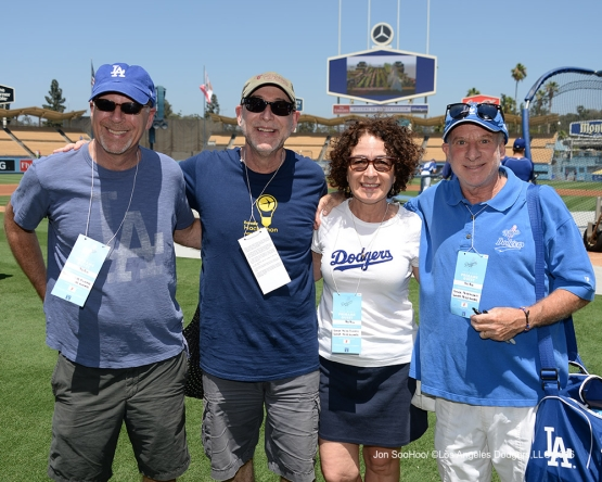 Great Los Angeles Dodger fans prior to game against the Boston Red Sox Sunday, August 7, 2016 at Dodger Stadium in Los Angeles,California. Photo by Jon SooHoo/©Los Angeles Dodgers,LLC 2016