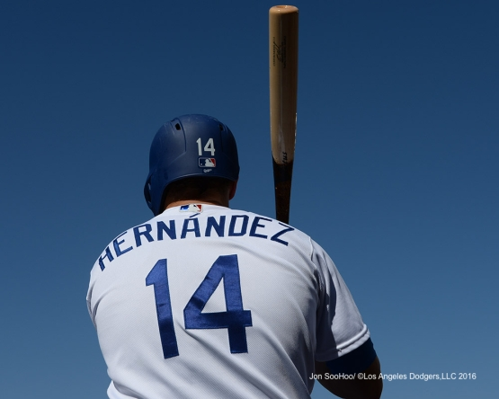 Kike Hernandez during game against the Boston Red Sox Sunday, August 7, 2016 at Dodger Stadium in Los Angeles,California. Photo by Jon SooHoo/©Los Angeles Dodgers,LLC 2016