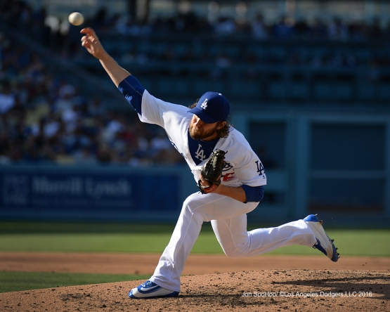 Josh Fields during game against the Boston Red Sox Sunday, August 7, 2016 at Dodger Stadium in Los Angeles,California. Photo by Jon SooHoo/©Los Angeles Dodgers,LLC 2016