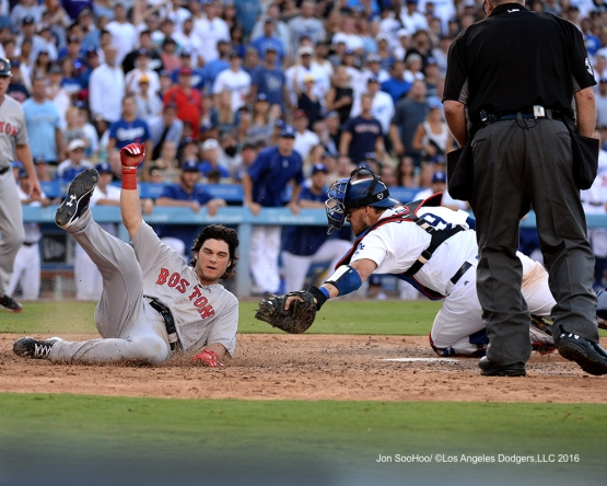 Los Angeles Dodgers during game against the Boston Red Sox Sunday, August 7, 2016 at Dodger Stadium in Los Angeles,California. Photo by Jon SooHoo/©Los Angeles Dodgers,LLC 2016