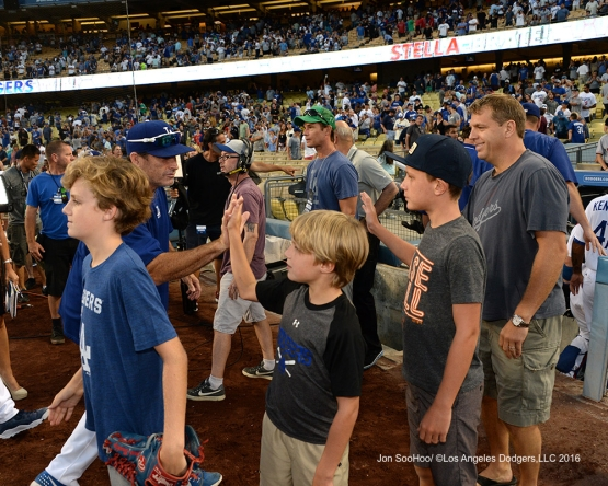 The Boehly's and friends after win against the Boston Red Sox Sunday, August 7, 2016 at Dodger Stadium in Los Angeles,California. Photo by Jon SooHoo/©Los Angeles Dodgers,LLC 2016