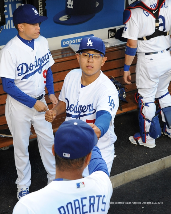 Julio Urias during game against the Philadelphia Phillies Monday, August 8, 2016 at Dodger Stadium in Los Angeles,California. Photo by Jon SooHoo/©Los Angeles Dodgers,LLC 2016