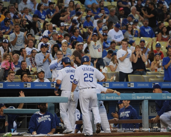 Rob Segedin during game against the Philadelphia Phillies Monday, August 8, 2016 at Dodger Stadium in Los Angeles,California. Photo by Jon SooHoo/©Los Angeles Dodgers,LLC 2016
