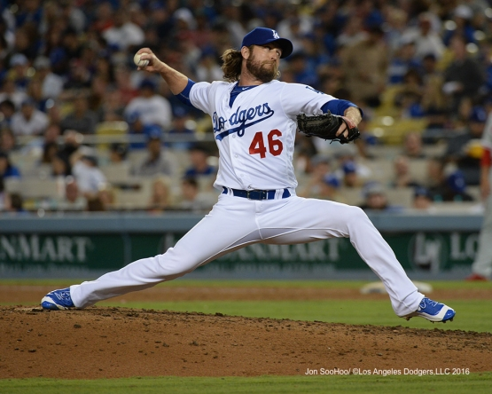 Josh Fields during game against the Philadelphia Phillies Monday, August 8, 2016 at Dodger Stadium in Los Angeles,California. Photo by Jon SooHoo/©Los Angeles Dodgers,LLC 2016