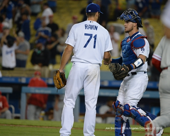 Dodgers win the game against the Philadelphia Phillies Monday, August 8, 2016 at Dodger Stadium in Los Angeles,California. Photo by Jon SooHoo/©Los Angeles Dodgers,LLC 2016