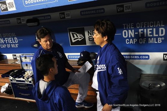 Kenta Maeda during game against the Philadelphia Phillies Tuesday, August 8, 2016 at Dodger Stadium in Los Angeles,California. Photo by Jon SooHoo/©Los Angeles Dodgers,LLC 2016