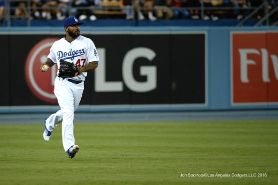 Howie Kendrick during game against the Philadelphia Phillies Tuesday, August 8, 2016 at Dodger Stadium in Los Angeles,California. Photo by Jon SooHoo/©Los Angeles Dodgers,LLC 2016