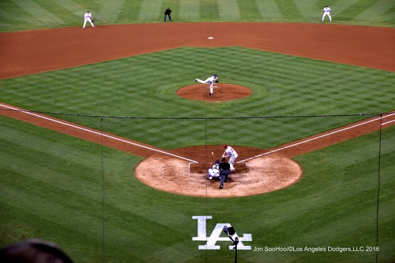 Kenta Maeda pitches against the Philadelphia Phillies Tuesday, August 8, 2016 at Dodger Stadium in Los Angeles,California. Photo by Jon SooHoo/©Los Angeles Dodgers,LLC 2016