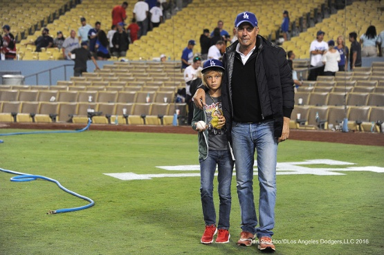 Kevin Costner after the Los Angeles Dodgers game against the Philadelphia Phillies Tuesday, August 8, 2016 at Dodger Stadium in Los Angeles,California. Photo by Jon SooHoo/©Los Angeles Dodgers,LLC 2016