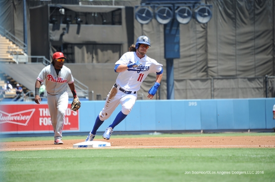 Los Angeles Dodgers during game against the Philadelphia Phillies Wednesday, August 10, 2016 at Dodger Stadium in Los Angeles,California. Photo by Jon SooHoo/©Los Angeles Dodgers,LLC 2016