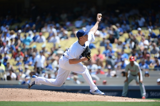 Scott Kazmir during game against the Philadelphia Phillies Wednesday, August 10, 2016 at Dodger Stadium in Los Angeles,California. Photo by Jon SooHoo/©Los Angeles Dodgers,LLC 2016