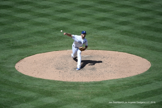 Josh Ravin during game against the Philadelphia Phillies Wednesday, August 10, 2016 at Dodger Stadium in Los Angeles,California. Photo by Jon SooHoo/©Los Angeles Dodgers,LLC 2016
