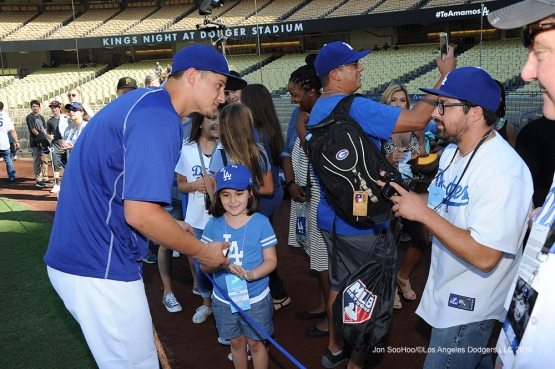 Great Los Angeles Dodger fans prior to game against the Pittsburgh Pirates Friday, August 12, 2016 at Dodger Stadium in Los Angeles,California. Photo by Jon SooHoo/©Los Angeles Dodgers,LLC