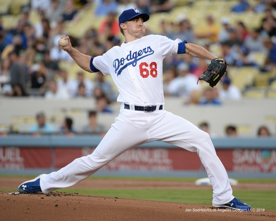 Ross Stripling during game against the Pittsburgh Pirates Friday, August 12, 2016 at Dodger Stadium in Los Angeles,California. Photo by Jon SooHoo/©Los Angeles Dodgers,LLC