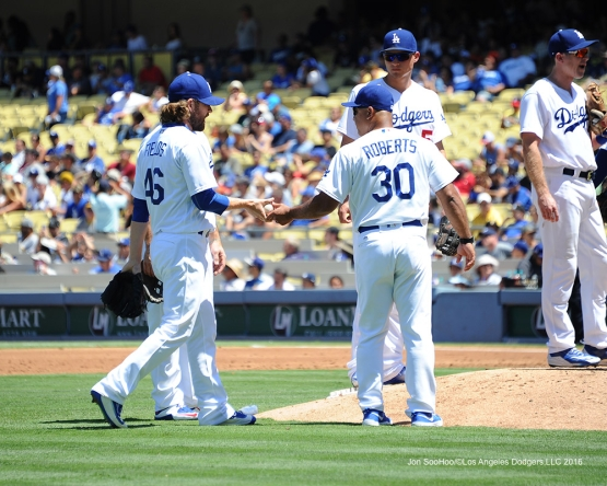 Josh Fields during game against the Pittsburgh Pirates Saturday, August 13, 2016 at Dodger Stadium in Los Angeles,California. Photo by Jon SooHoo/©Los Angeles Dodgers,LLC