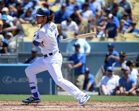 Josh Reddick during game against the Pittsburgh Pirates Saturday, August 13, 2016 at Dodger Stadium in Los Angeles,California. Photo by Jon SooHoo/©Los Angeles Dodgers,LLC
