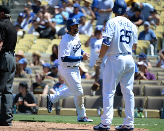 Los Angeles Dodgers during game against the Pittsburgh Pirates Saturday, August 13, 2016 at Dodger Stadium in Los Angeles,California. Photo by Jon SooHoo/©Los Angeles Dodgers,LLC