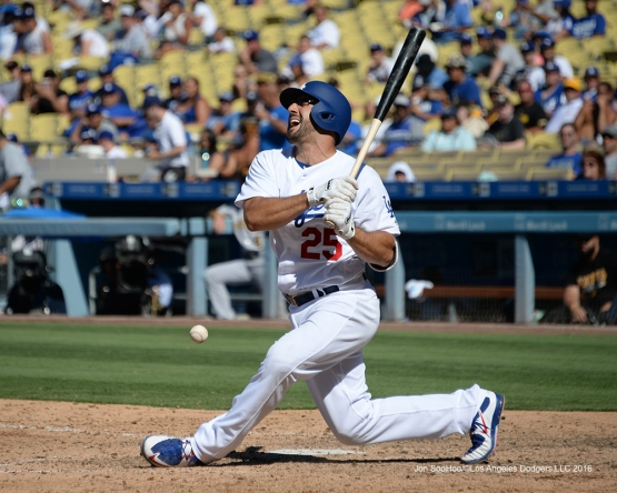 Rob Segedin during game against the Pittsburgh Pirates Saturday, August 13, 2016 at Dodger Stadium in Los Angeles,California. Photo by Jon SooHoo/©Los Angeles Dodgers,LLC