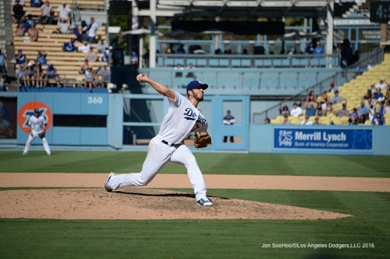 Josh Ravin during game against the Pittsburgh Pirates Saturday, August 13, 2016 at Dodger Stadium in Los Angeles,California. Photo by Jon SooHoo/©Los Angeles Dodgers,LLC