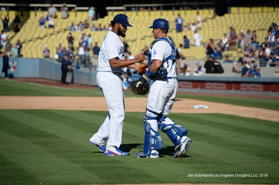 Kenley Jansen during game against the Pittsburgh Pirates Saturday, August 13, 2016 at Dodger Stadium in Los Angeles,California. Photo by Jon SooHoo/©Los Angeles Dodgers,LLC