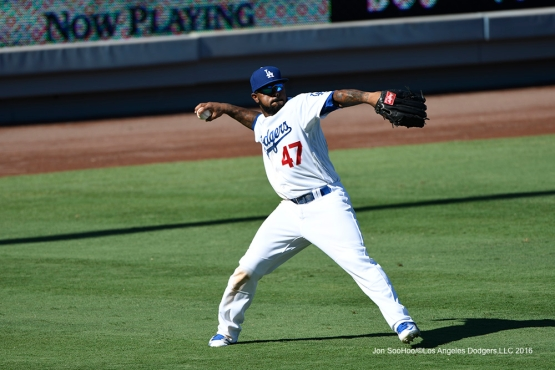 Howie Kendrick during game against the Pittsburgh Pirates Sunday, August 14, 2016 at Dodger Stadium in Los Angeles,California. Photo by Jon SooHoo/©Los Angeles Dodgers,LLC 2016