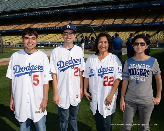 Great Los Angeles Dodger fans prior to game against the San Francisco Giants Tuesday, August 23, 2016 at Dodger Stadium in Los Angeles,California. Photo by Jon SooHoo/©Los Angeles Dodgers,LLC 2016