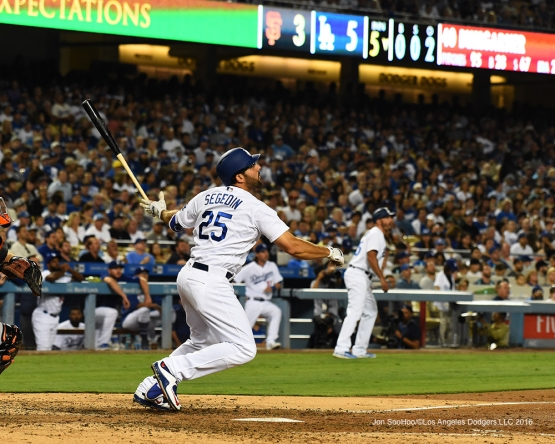 Los Angeles Dodgers during game against the San Francisco Giants Tuesday, August 23, 2016 at Dodger Stadium in Los Angeles,California. Photo by Jon SooHoo/©Los Angeles Dodgers,LLC 2016