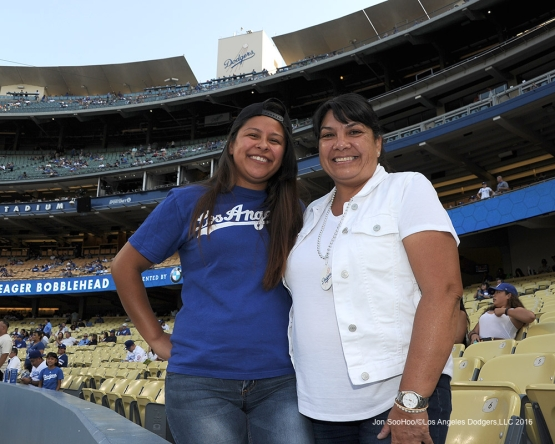 Great Los Angeles Dodger fans prior to game against the San Francisco Giants Thursday, August 25, 2016 at Dodger Stadium in Los Angeles,California. Photo by Jon SooHoo/©Los Angeles Dodgers,LLC 2016
