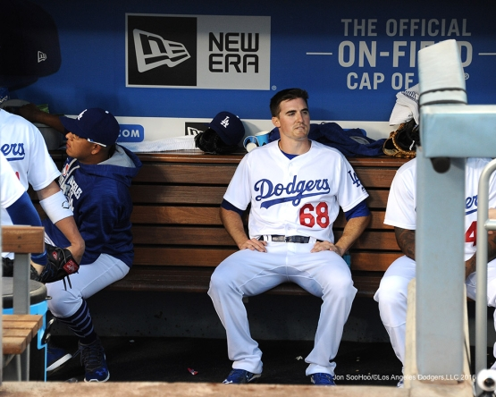 Ross Stripling   during game against the San Francisco Giants Thursday, August 25, 2016 at Dodger Stadium in Los Angeles,California. Photo by Jon SooHoo/©Los Angeles Dodgers,LLC 2016