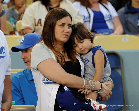 Great Los Angeles Dodger fans during game against the San Francisco Giants Thursday, August 25, 2016 at Dodger Stadium in Los Angeles,California. Photo by Jon SooHoo/©Los Angeles Dodgers,LLC 2016