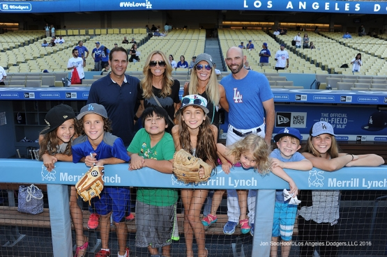 The Woodwards prior to game against the Chicago Cubs Friday, August 26 2016 at Dodger Stadium in Los Angeles,California. Pho,to by Jon SooHoo/©Los Angeles Dodgers,LLC 2016