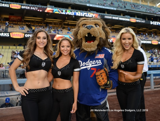 The Los Angeles Dodgers host Kings Night at Dodger Stadium. Jill Weisleder/Dodgers
