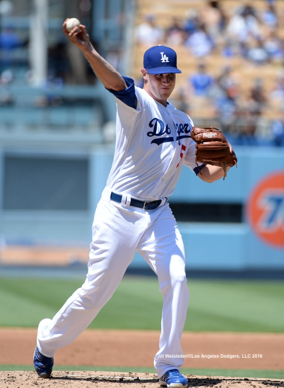 Newly recalled right-hander Brock Stewart comes in to pitch against the Pittsburgh Pirates. Jill Weisleder/Dodgers