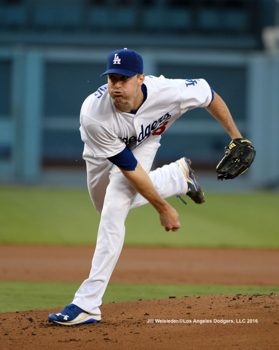Starting pitcher Ross Stripling follows through on a pitch. Jill Weisleder/Dodgers