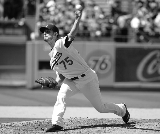 Grant Dayton pitches against the Chicago Cubs Sunday, August 28, 2016 at Dodger Stadium in Los Angeles,California. Photo by Jon SooHoo/©Los Angeles Dodgers,LLC 2016